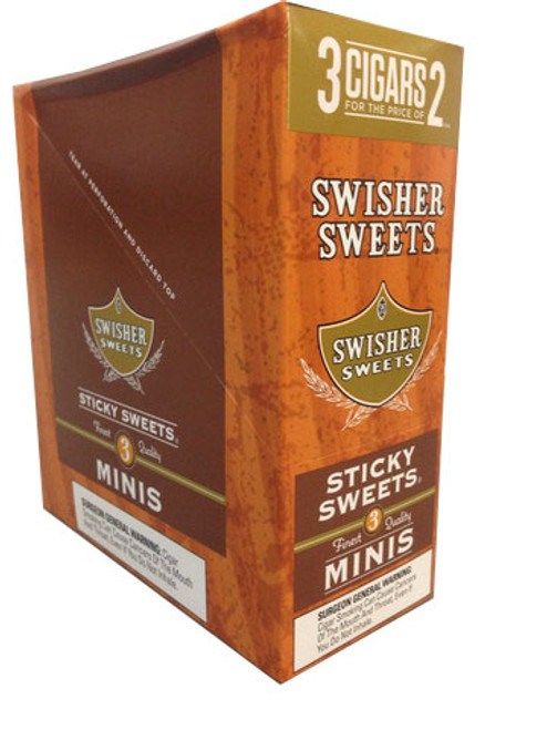 Swisher Sweets Mini Cigarillos Foil Sticky Sweet 15/3