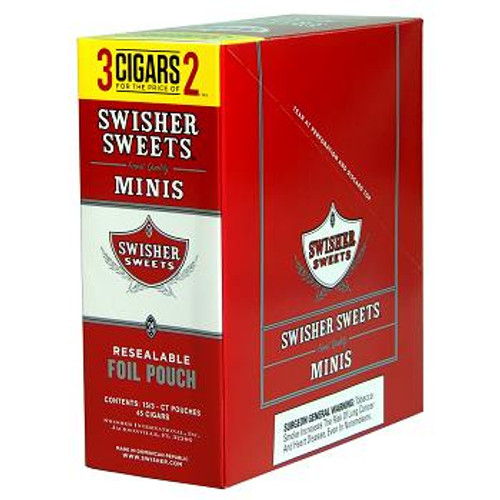 Swisher Sweets Mini Cigarillos Foil Sweet 15/3