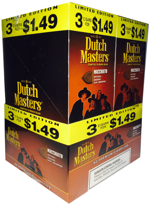 Dutch Masters Cigarillos Macchiato Foil 20 Pouches of 3