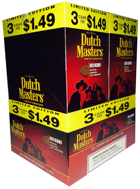 Dutch Masters Cigarillos Red Berry Foil 20 Pouches of 3
