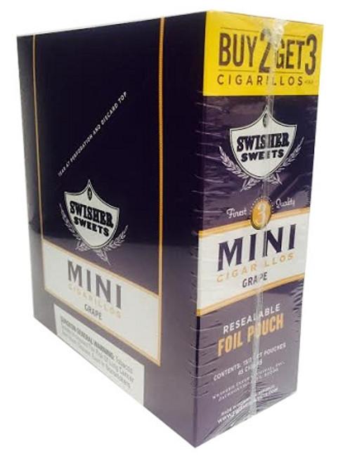 Swisher Sweets Mini Cigarillos Foil Grape 15/3