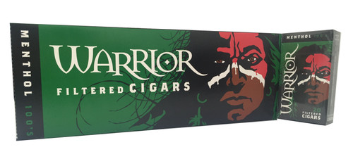 Warrior Filtered Cigars Menthol 100's
