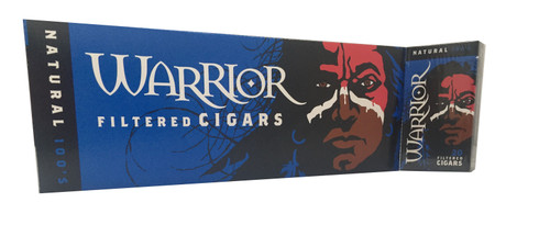 Warrior Filtered Cigars Natural 100's