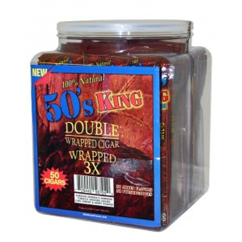 50's King Double Wrapped Cigar Sweet Jar 50ct