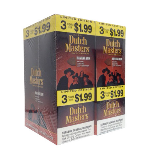 Dutch Masters Cigarillos Havana Rum Foil 20 Pouches of 3