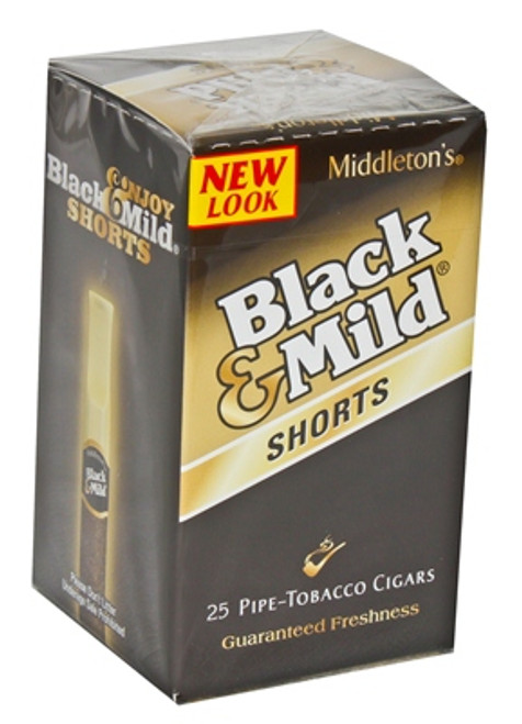 Black & Mild Shorts Cigars Original Box 25ct