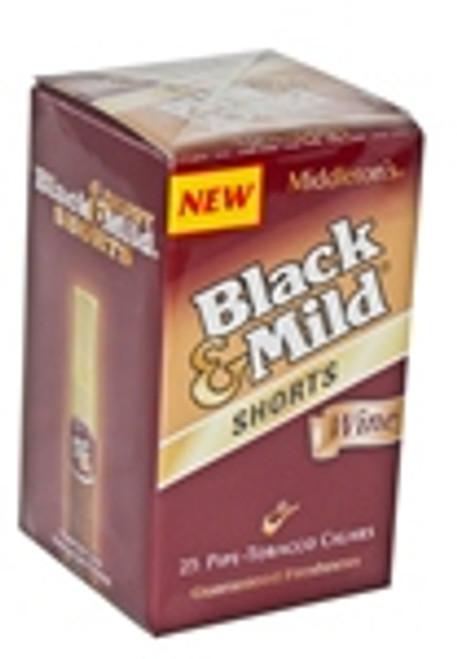 Black & Mild Shorts Cigars Wine Box 25ct