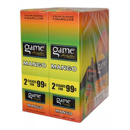 Game Cigarillos Foil Mango 30 Pouches of 2