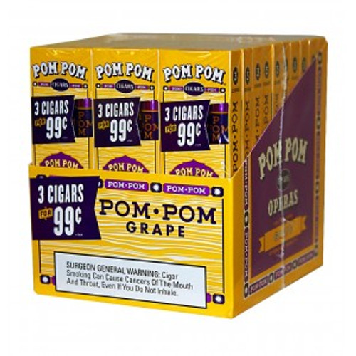 Pom Pom Foil Cigarillos Grape Pack 30/3