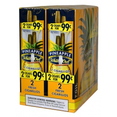 White Owl Cigarillos Pineapple 30 Pouches of 2