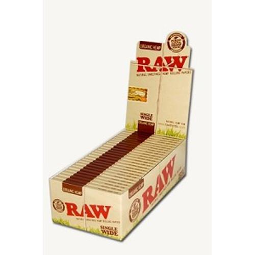 RAW Organic Hemp Rolling Papers Single Wide 25Ct