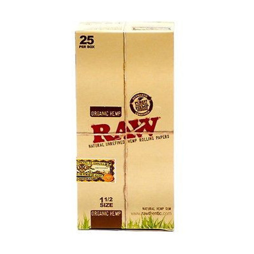 RAW Organic Hemp Rolling Papers 1.5 25t