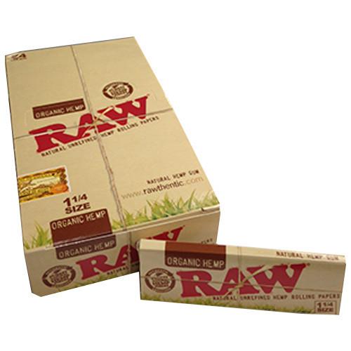RAW Organic Hemp Rolling Papers 1.25