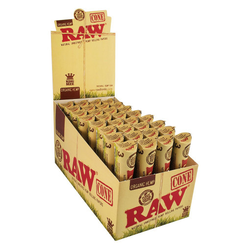 RAW Organic Hemp Cone Rolling Papers 33/3Ct