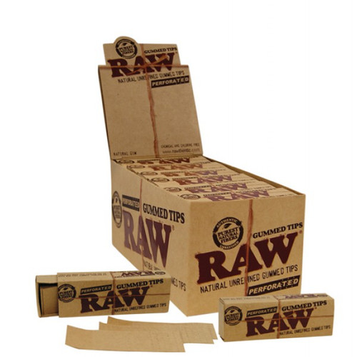 RAW Classic Gummed Tips Perforated