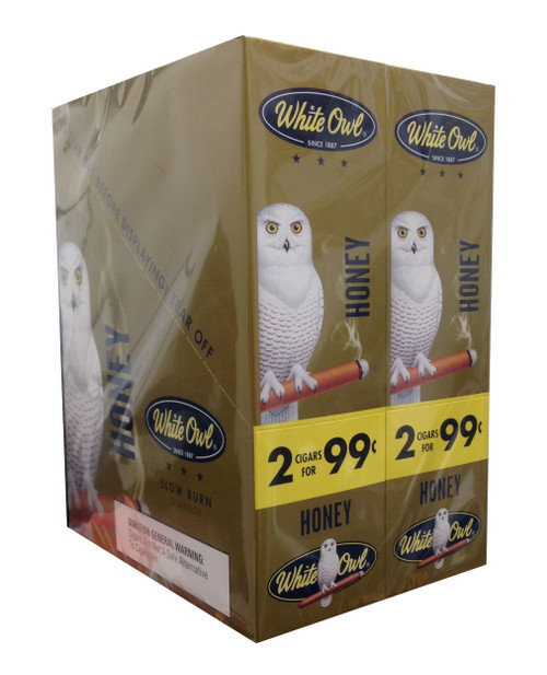 White Owl Cigarillos Honey 30 Pouches of 2
