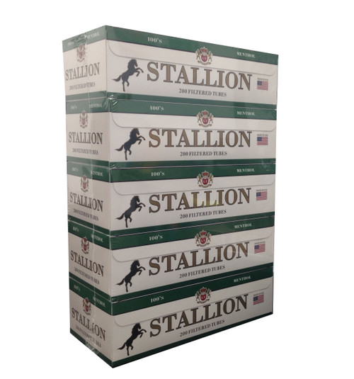 Stallion Cigarette Filter Tubes Menthol 100's 1000Ct