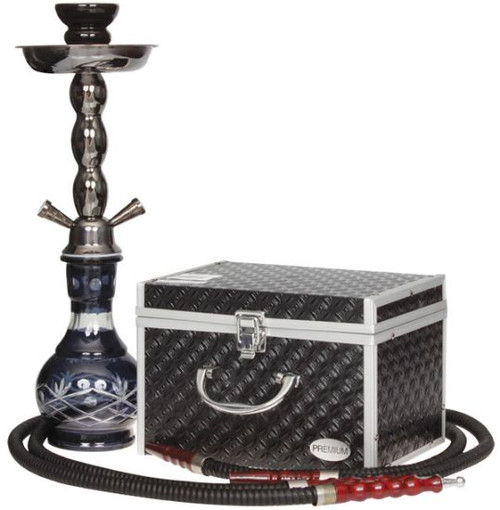 Dual Hose Hookah Pipe 19 inch with case