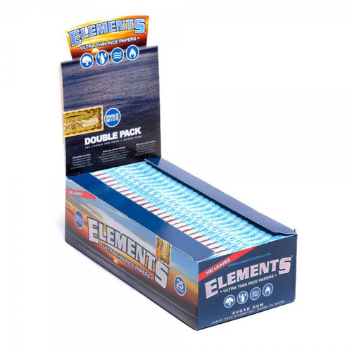 Elements Cigarette Rolling Papers Single Wide 25Ct