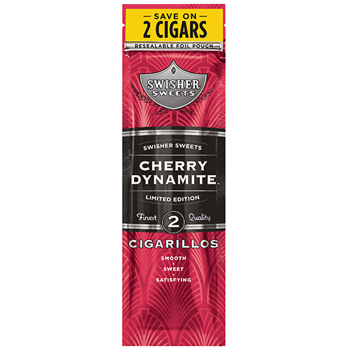 Swisher Sweets Cigarillos Foil Cherry Dynamite 30 Pouches of 2