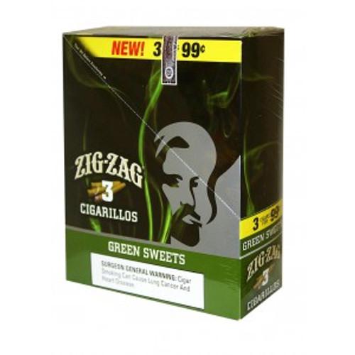 Zig Zag Cigarillos Green Sweets 15/3