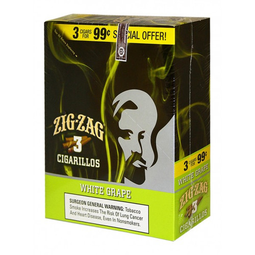 Zig Zag Cigarillos White Grape 15/3