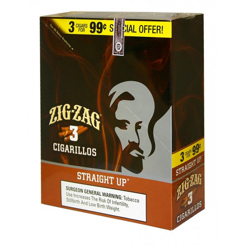 Zig Zag Cigarillos Straight Up 15/3
