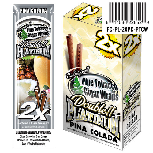 Double Platinum Blunt Wraps Pina Colada 25/2 Ct