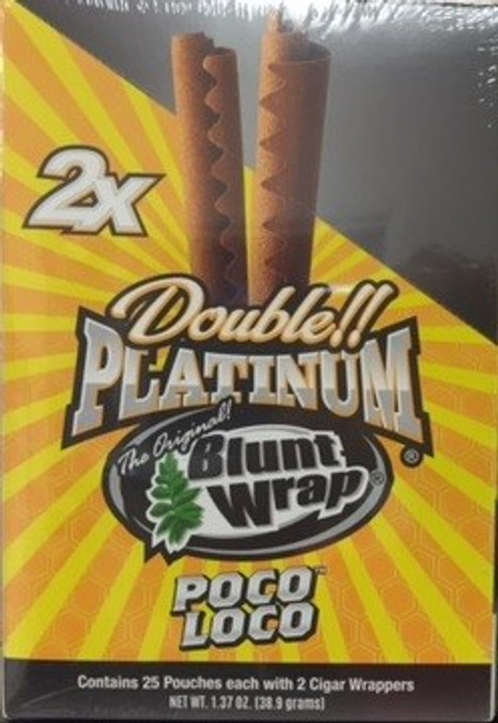 Double Platinum Blunt Wraps Poco Loco 25/2 Ct
