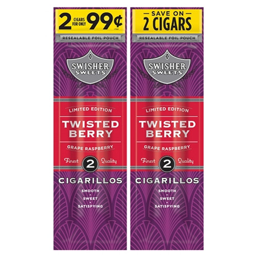 Swisher Sweets Cigarillos Foil Twisted Berry 30 Pouches of 2