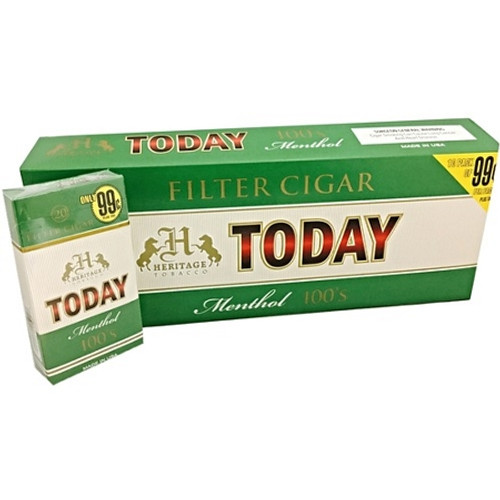 Today Filtered Cigars Menthol