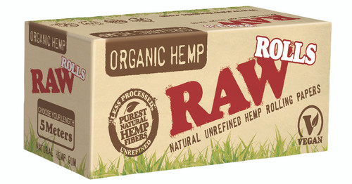 RAW Organic Hemp Rolling Papers 5 Meter Rolls