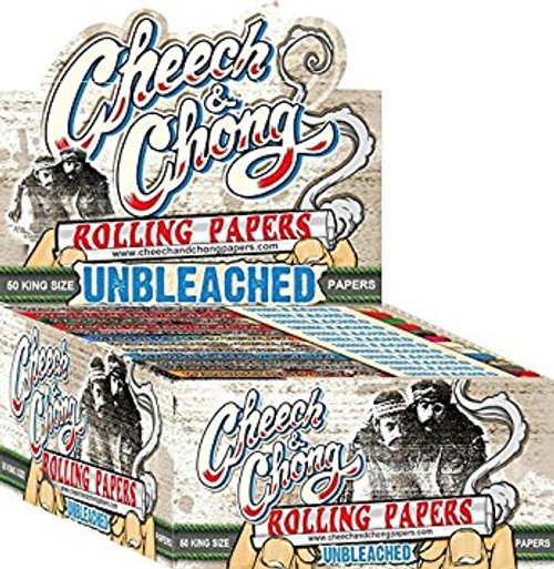 Cheech & Chong Uncleached King Size Slim Rolling Papers 50Ct