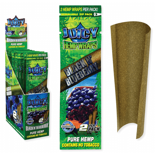 Juicy Jay Hemp Wraps Black N Blueberry