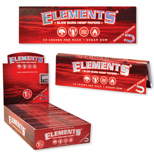 Elements Cigarette Rolling Papers RED 1.25 25Ct