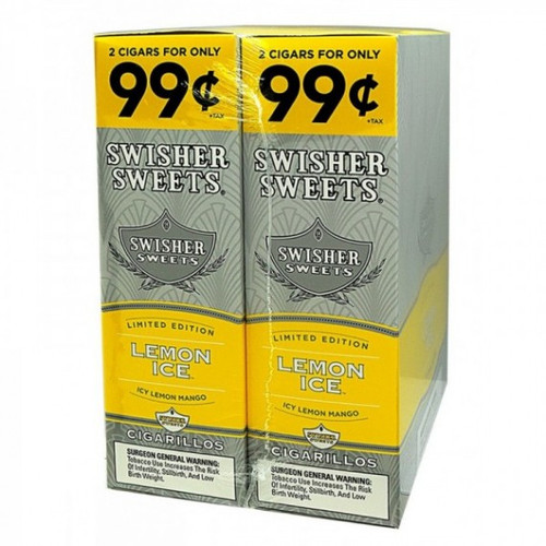 Swisher Sweets Cigarillos Foil Lemon Ice 30 Pouches of 2
