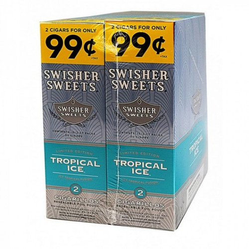 Swisher Sweets Cigarillos Foil  Tropical Ice 30 Pouches of 2