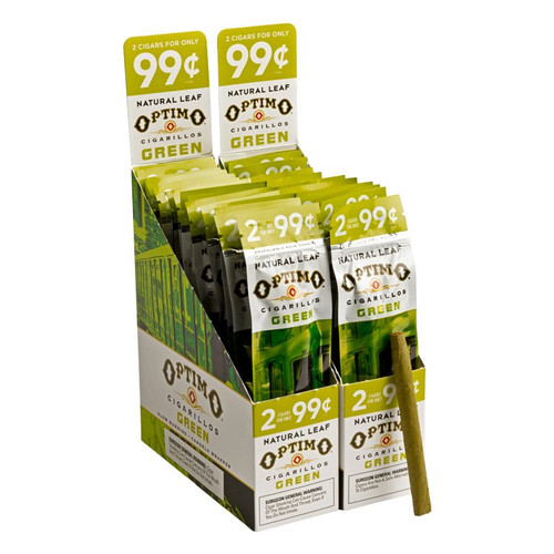Optimo Cigarillos Foil Pack Green