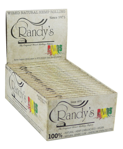 Randys Roots Wired Natural Hemp Rolling Papers 25Ct