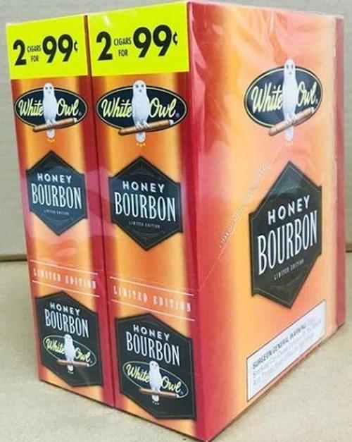 White Owl Cigarillos Honey Bourbon 30 Pouches of 2