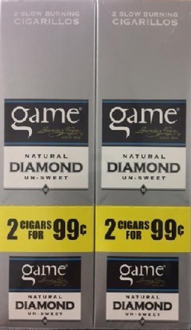 Game Cigarillos Foil Diamond 30 Pouches of 2