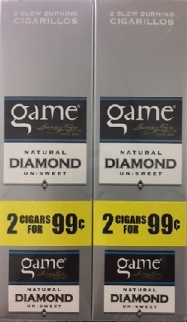 Game Cigarillos Foil Diamond 30 Pouches of 2