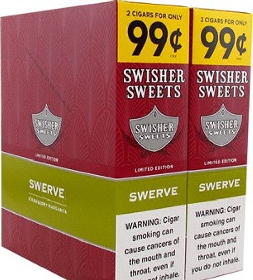 Swisher Sweets Cigarillos Foil Swerve 30 Pouches of 2