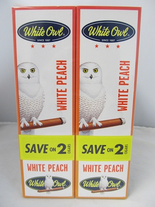 White Owl Cigarillos White Peach 30 Pouches of 2