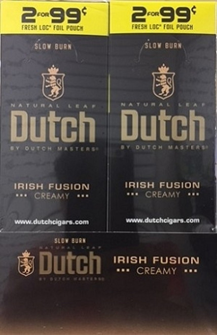 Dutch Masters Cigarillos Foil Irish Fusion 30 Pouches of 2