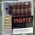 Montecristo Monte Toro With Torch Lighter 5 Ct. Box 6.00X52