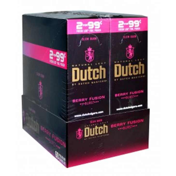 Dutch Masters Cigarillos Foil Berry Fusion 30 Pouches of 2
