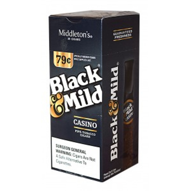 Black & Mild Casino Cigars Box $0.79 Pre-Priced