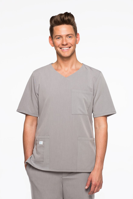 Mens scrub top | Men's scrubs| High Tech liner | Warm Scrubs | Medical Scrubs with liners | Modesty liner | Merlot scrubs | Gray Scrubs | White Scrubs | anti-microbial fabric | Professional scrubs | stylish scrubs | Great labcoats | Stain resistant scrubs | scrub set