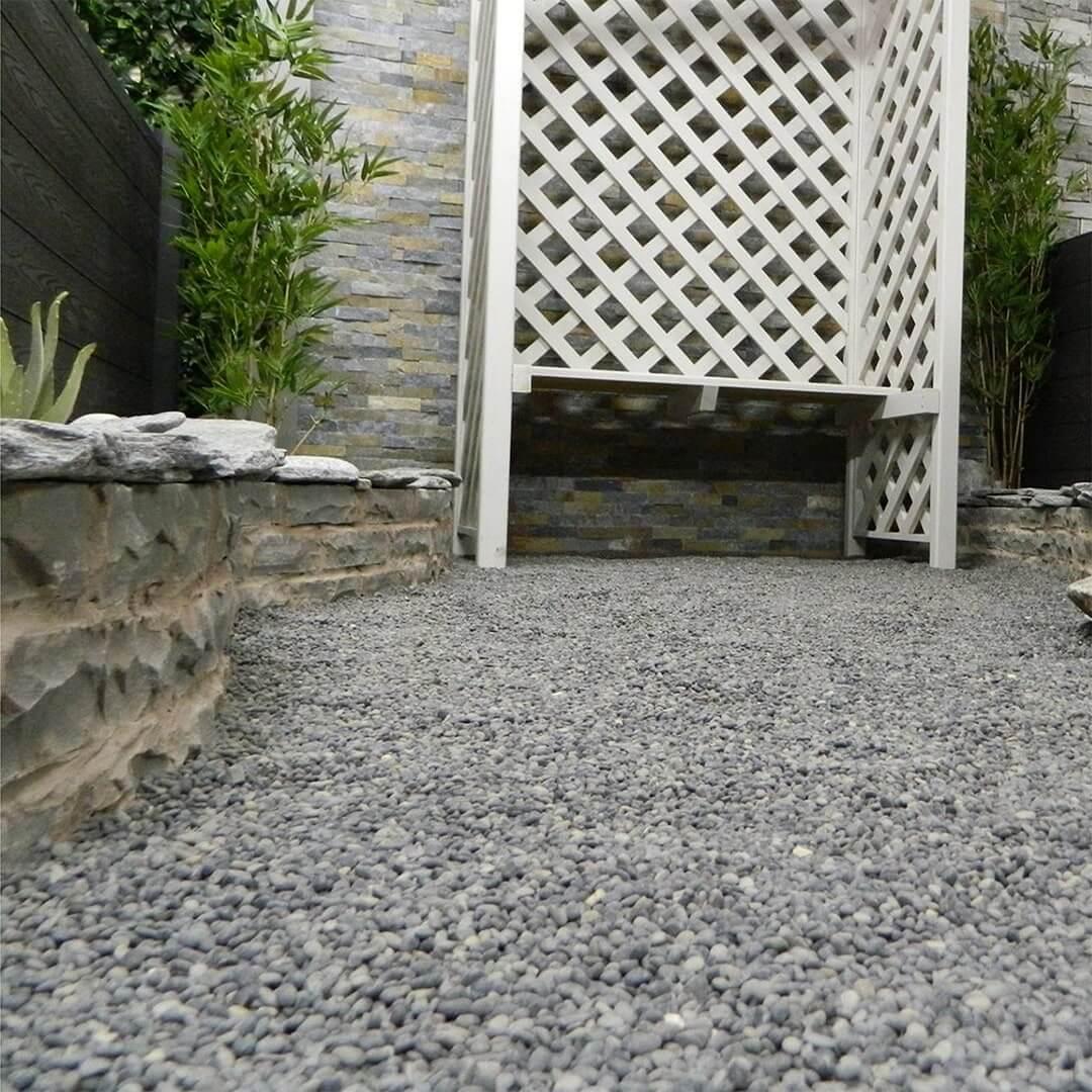 Icelandic pebbles, natural grey walling